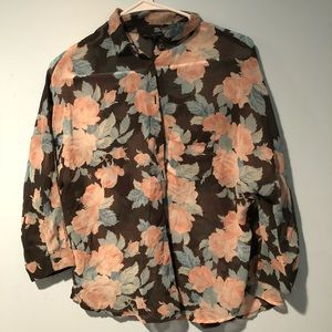 american eagle floral shirt
